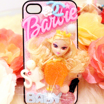 New Bling Crystal Sparkle Barbie Doll iPhone 4/4S Case #2