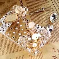 New Bling Crystal Sparkle Wooden Kitty iPhone 4/4S Case