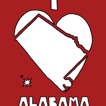 Alabama love, 5x7 print