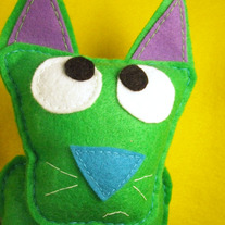 Cat, Felt Animal Decorative Plush - Donnie the Cat