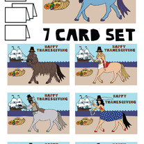 Centaurs Thanksgiving 7 card set