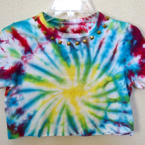 Studded Tie-Dye Crop Top