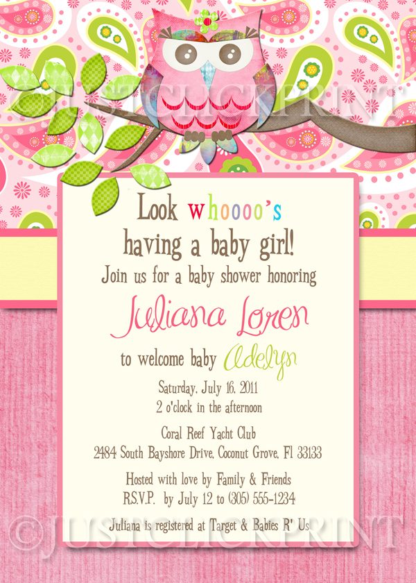 Paisley Owl Look Whooos Having a Baby Shower Invitation Printable ...