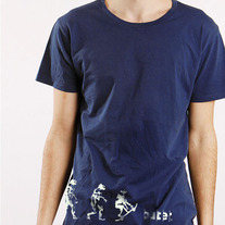 Evolution Tee, Navy Blue
