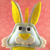 Felt Easter Ornament - Barnaby the rabbit