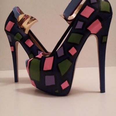 Multi-colored painted heels (tammy)