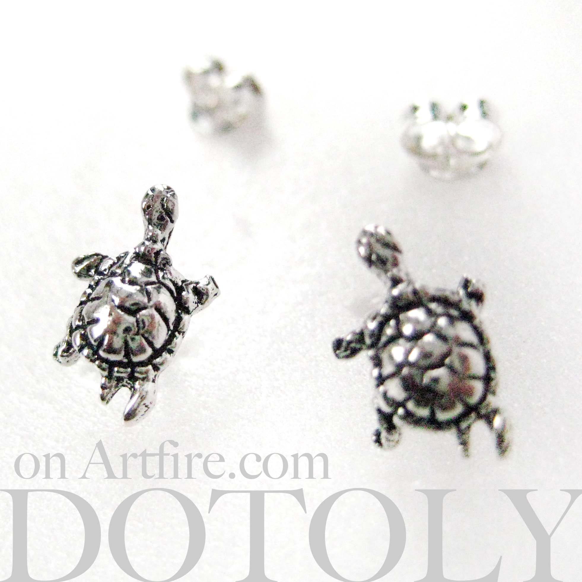 turtle rhinestones with cute in stud original collections tortoise animal gold sea products earrings