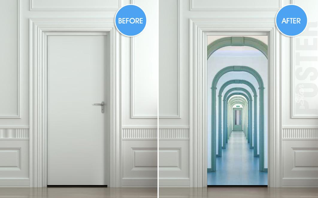 Corridor door modern office corridor showing oak finish for Interior passage doors