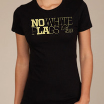 TG Black & Gold No White Flags Ladies Tee