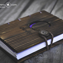 Personalized Pine Wood Travel Journal