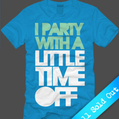 I party with a little time off (blue)(sold out)