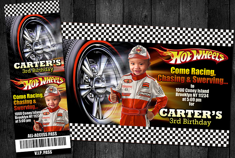 Hot Wheels Birthday Invitation as best invitation template