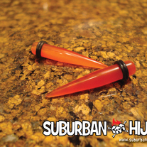 Orange Glass Taper