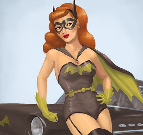 ... Pinup Print · Spicy Donut Shop · Online Store Powered by Storenvy: spicydonut.storenvy.com/products/4035929-batgirl-pinup-print