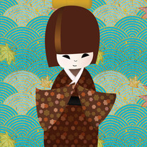 Peace_kokeshi_doll_print_blue_medium