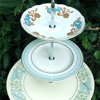 "Triple Tiered Cake Stand - ""My Blue Heaven"""