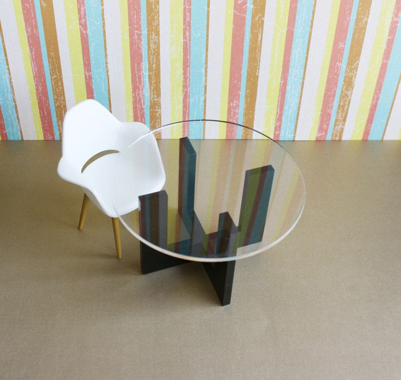 Modern Minimalist Dining Kitchen Table In Acrylic W