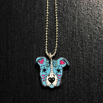 Sugar skull pit bull necklace 2 larry the dog sugar skull pit bull necklace 2 aloadofball Choice Image