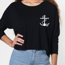 Navy Black Pullover-ONE SIZE