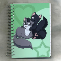 Notebook S - Raven Wolf: Chibi Couple - Teddy x Yula