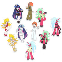 Mini Magnets - Panty & Stocking -anime- Character Magnets (Fanart)