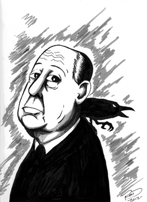 a description of alfred hitchcock as the master of suspense Alfred hitchcock print, minimal wall art, black & white, hitch silhouette, cigar, gift, the master of suspense, cinephilia, digital wall art.