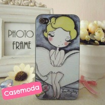New Cute Marilyn Monroe iPhone 4/4s Case #1