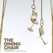 The DINING CHAIR - SILVER THICK CHAIN