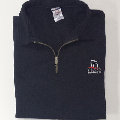 175th anniversary half-zip sweatshirt