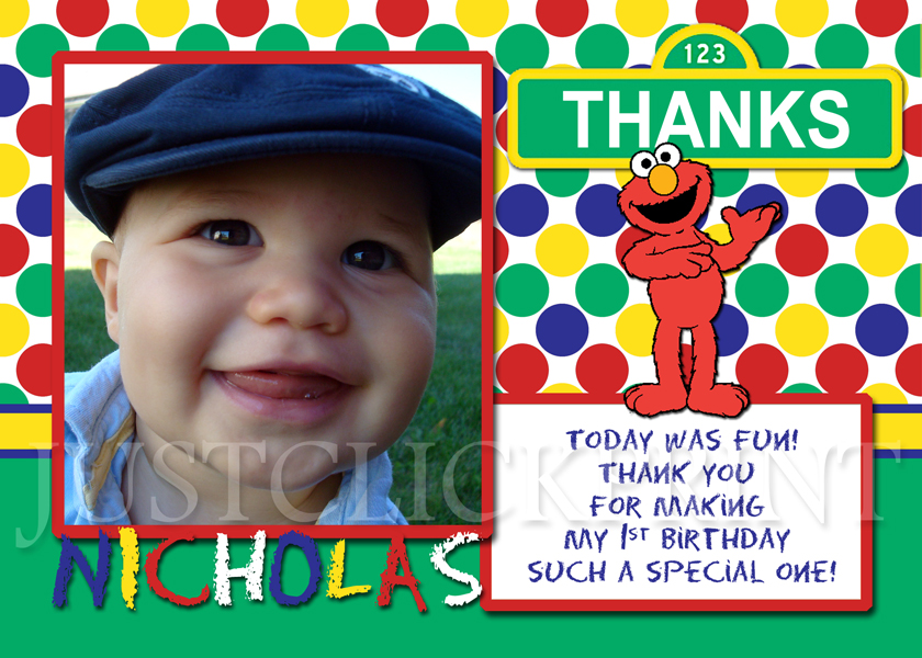 Sesame Street Elmo Birthday Invitation Printable Just Click Print