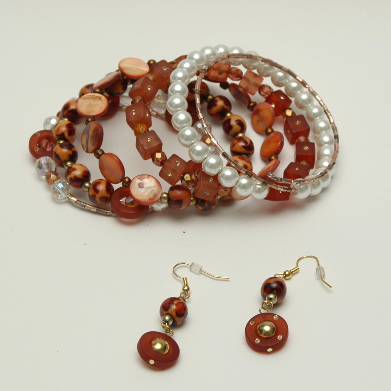 beaded wire wrap bracelet 183 the orange bird 183 store