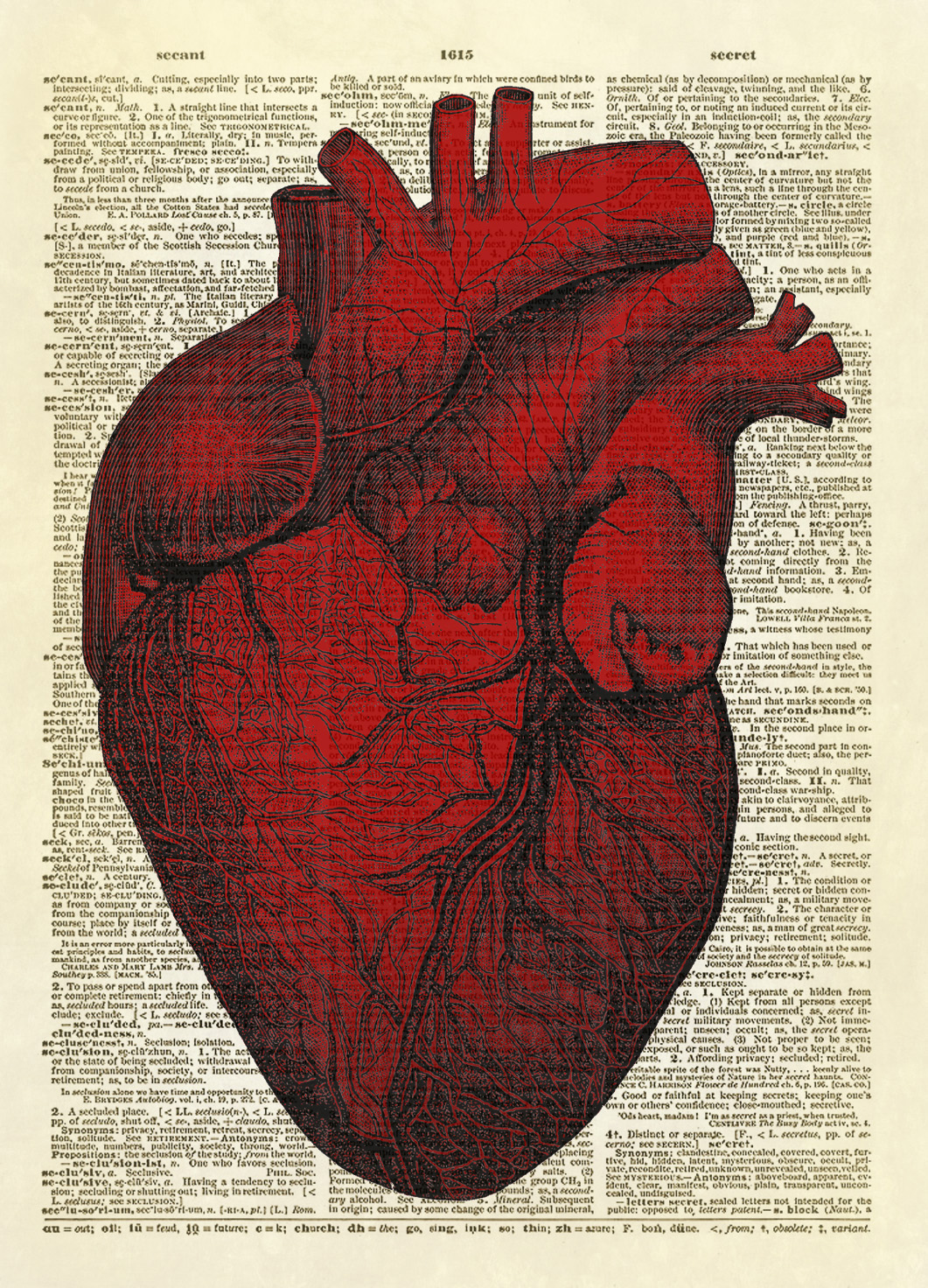 Human Heart Dictionary Art Print No. 0008 on Storenvy