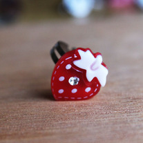 Red Strawberry Ring