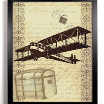 Image of Travel Airplane Ephemera Antique Illustration 8 x 10
