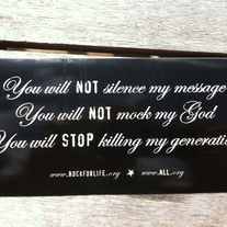 Silence bumpersticker