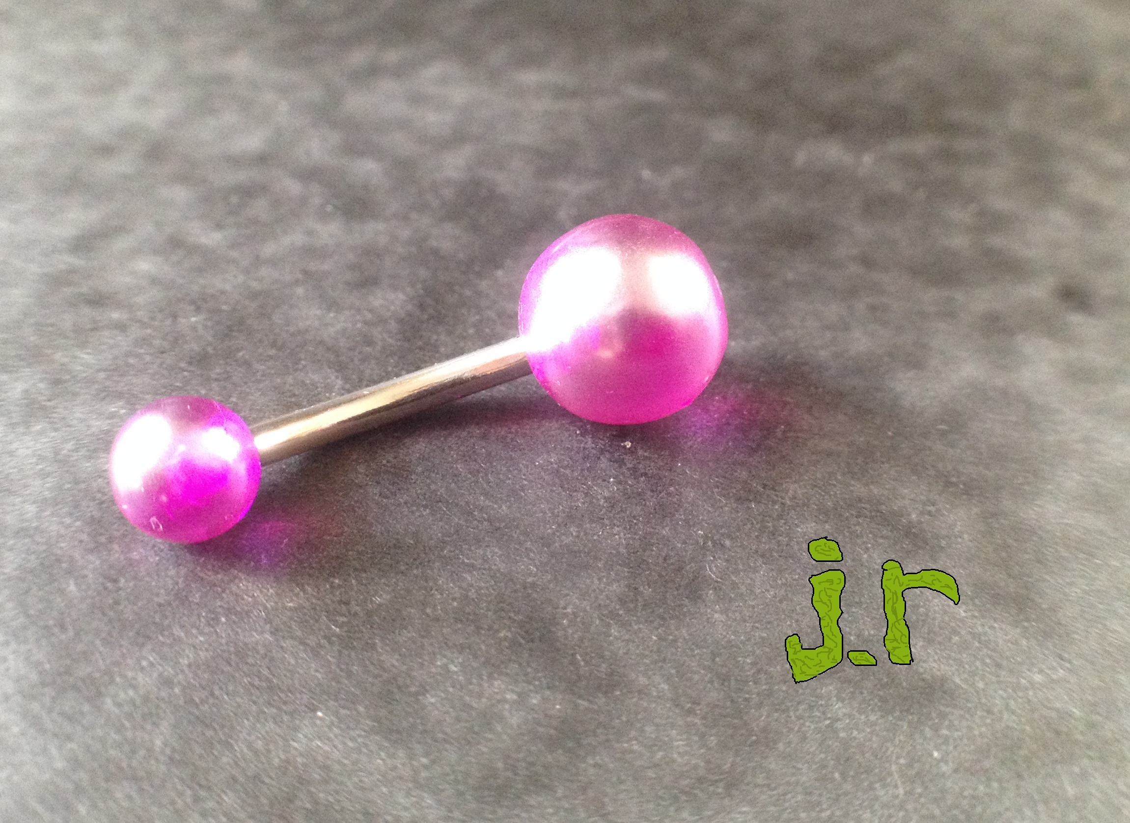 Pearlescent acrylic belly button rings j r body jewelry for Belly button jewelry store