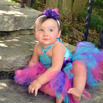 Turquoise Blue Purple Hot Pink Girls Tutu Dress with Feather and Flower Accent Clip and Coordinating Headband