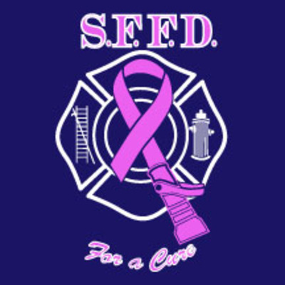 2013 women's sffd firefighters for a cure tee-blue
