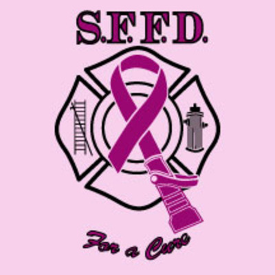 2013 men's sffd firefighters for a cure tee-pink