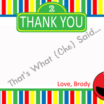 Elmo Sesame Street Thank You Card