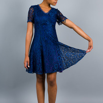 Blue Like Lace Dress