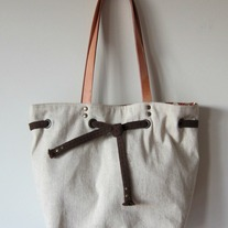 Linen Drawstring Tote - Mother's Day Special - Was $75 Now $60