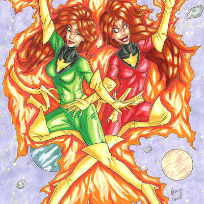 Phoenix sugar and spice original art