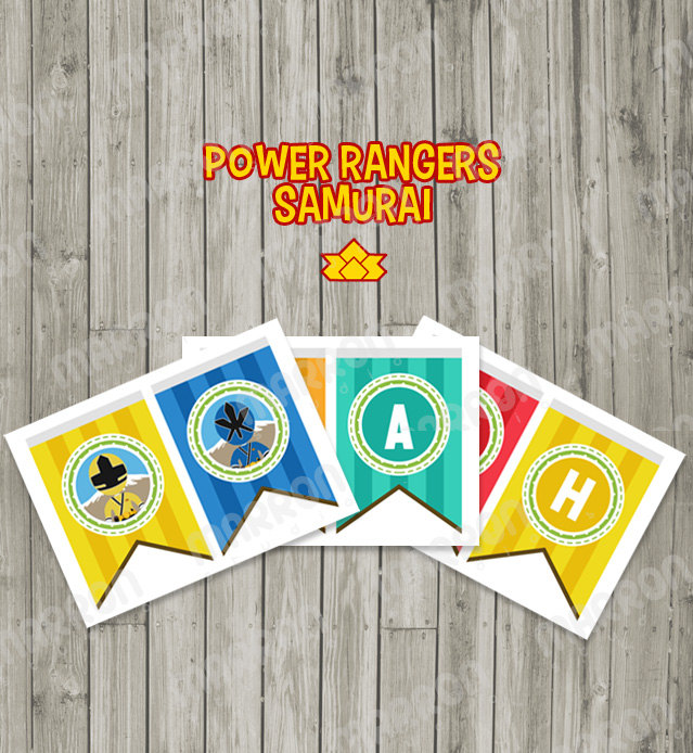 Marron Studio Power Ranger Samurai Inspired Happy Birthday Party