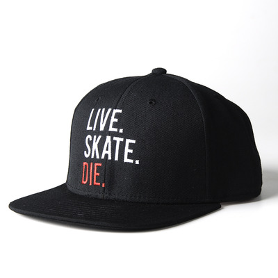 Live.skate.die. black - snap back hat