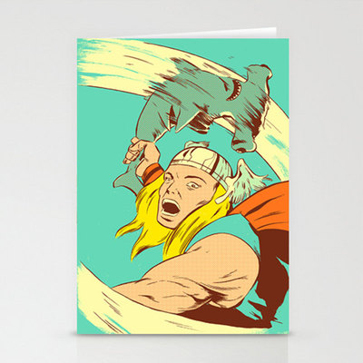 Hammer time (thor) 3 pack stationary cards, matching envelopes included