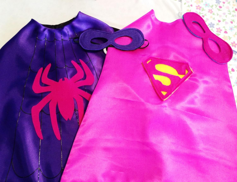superhero cape spidergirl supergirl girl s super hero cape with