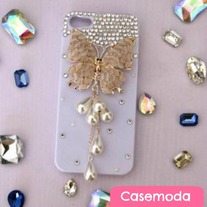 New Bling Sparkle Crystal Jewelry Butterfly Pearls Tassel iPhone 3GS iPhone 4 iPhone 5 Case Cover