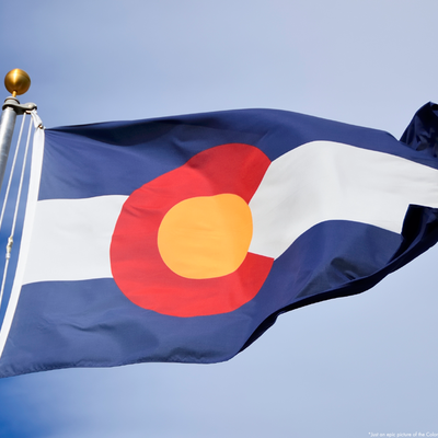 The colorado flag [literally]