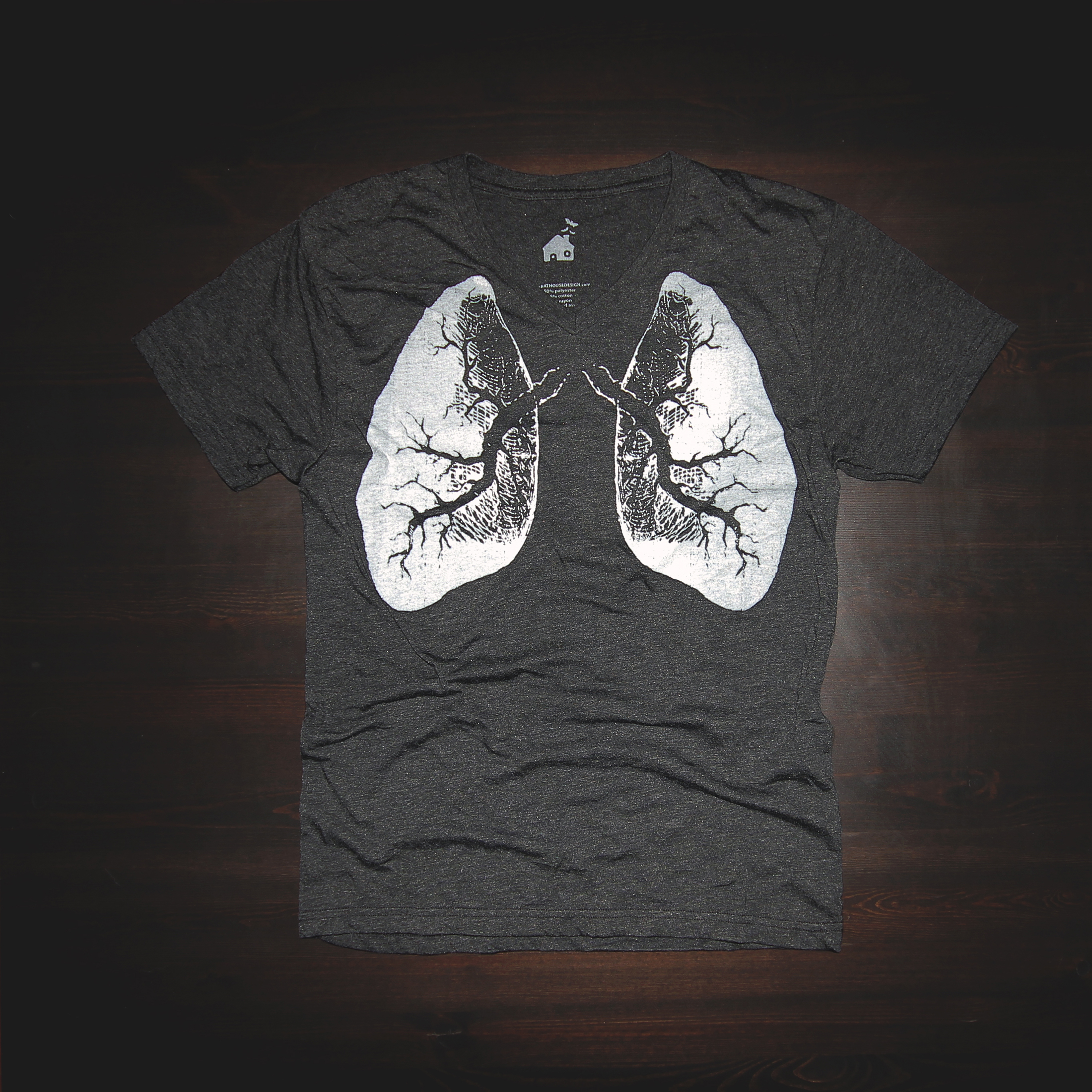 T Shirt Urban Lungs Design In Black Bat House Design Online